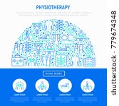 physiotherapy concept in half...   Shutterstock .eps vector #779674348