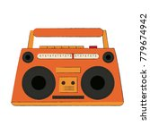 old radio stereo | Shutterstock .eps vector #779674942