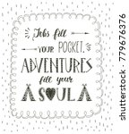 travel. vector hand drawn... | Shutterstock . vector #779676376