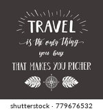 travel. vector hand drawn... | Shutterstock . vector #779676532