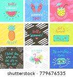 set of summer hand lettering...   Shutterstock . vector #779676535