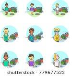 urban tribes  multicolor icon...   Shutterstock .eps vector #779677522