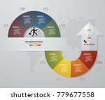 abstract 8 steps infographis... | Shutterstock .eps vector #779677558