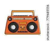 old radio stereo | Shutterstock .eps vector #779685556