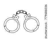 handcuffs police tool security... | Shutterstock .eps vector #779686036