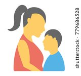 a flat design icon of a mom... | Shutterstock .eps vector #779686528