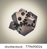 object printed on metal 3d... | Shutterstock . vector #779690026