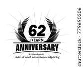 62 years design template....   Shutterstock .eps vector #779690206