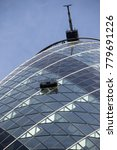 London, United Kingdom - October 30th, 2017:- The Gherkin office building at 30 St Mary Axe - stock photo