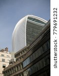 London, United Kingdom - October 30th, 2017-The Walkie Talkie Office Building at 20 Fenchurch Street - stock photo
