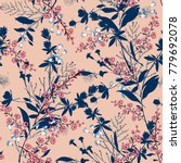 trendy  floral pattern in the... | Shutterstock .eps vector #779692078