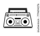 old radio stereo | Shutterstock .eps vector #779694376
