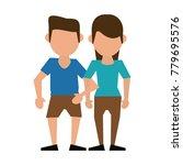 couple faceless avatar cartoon   Shutterstock .eps vector #779695576