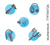 hearing loss solid icon set... | Shutterstock .eps vector #779704726