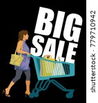 big sale. creative colorful... | Shutterstock .eps vector #779710942
