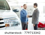 selective focus on a car... | Shutterstock . vector #779713342