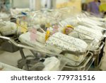 newborn baby in hospital in... | Shutterstock . vector #779731516