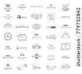 collection of vector logo... | Shutterstock .eps vector #779732842