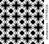 moroccan tiles design  seamless ... | Shutterstock .eps vector #779755156