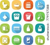 flat vector icon set   toilet... | Shutterstock .eps vector #779757388
