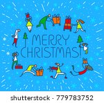 christmas greeting card with... | Shutterstock .eps vector #779783752