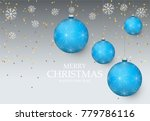 christmas light vector... | Shutterstock .eps vector #779786116