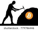 mining bitcoin concept   miner... | Shutterstock .eps vector #779786446