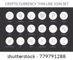 thin line crypto currency icon... | Shutterstock .eps vector #779791288