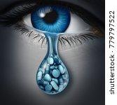 antidepressant and prescription ... | Shutterstock . vector #779797522