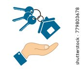 icons in the form keys and a... | Shutterstock .eps vector #779803678
