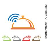 wifii and restaurant icons.... | Shutterstock .eps vector #779808382