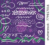 vector set of brush pen strokes ... | Shutterstock .eps vector #779817016