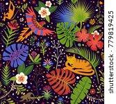 vector bright seamless pattern... | Shutterstock .eps vector #779819425