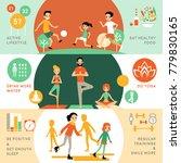 active healthy lifestyle...   Shutterstock . vector #779830165