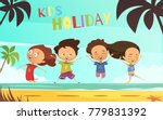 kids holiday flat  illustration ... | Shutterstock . vector #779831392