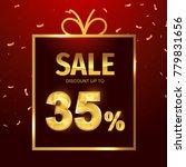 sale discount 35  gift  35 ... | Shutterstock .eps vector #779831656
