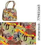 Seamless Pattern Zebra Summer Beach - Fine Art prints