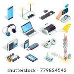 wireless connection technology... | Shutterstock . vector #779834542