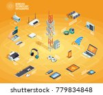 wireless technology electronic... | Shutterstock . vector #779834848
