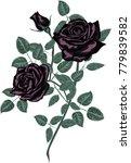 black roses    vector | Shutterstock .eps vector #779839582