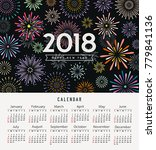calendar happy new year 2018... | Shutterstock .eps vector #779841136