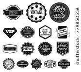 different label black icons in... | Shutterstock .eps vector #779850556