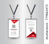 creative simple red id card... | Shutterstock .eps vector #779862472
