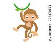Monkey Hanging And Swinging...