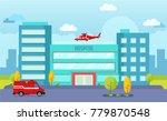 hospital building vector   Shutterstock .eps vector #779870548