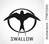 silhouette swallow bird outline ...   Shutterstock .eps vector #779872342