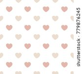 simple pattern with hearts on... | Shutterstock .eps vector #779876245