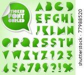 alphabet set of symbols in the... | Shutterstock .eps vector #77988520
