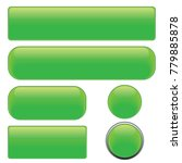 set green glossy web buttons ... | Shutterstock .eps vector #779885878
