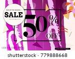 sale advertisement banner with... | Shutterstock .eps vector #779888668